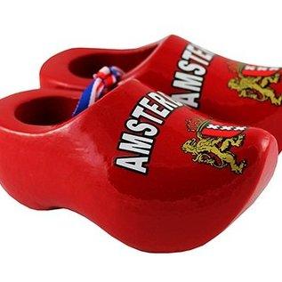 rode souvenirs klompjes Amsterdam  8cm