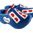 blauwe souvenirs klompjes Friesland  8cm
