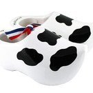 white souvenirs clogs Cow 8cm