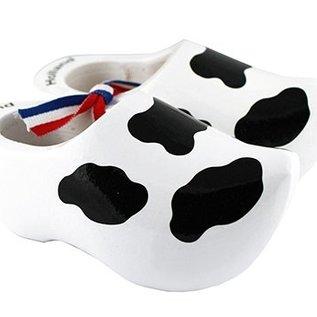 witte souvenirs klompjes Koe  8cm