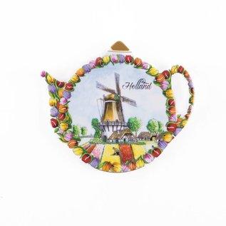Tea bags holder tulips landscape