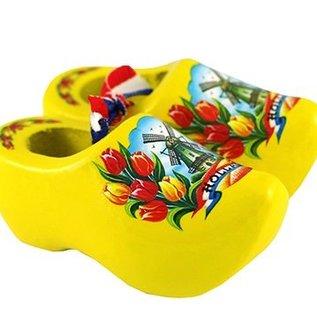Souvenirs Clogs Gelb 8 cm