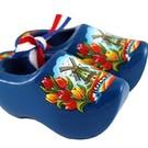 Souvenirs woodenshoes bleu 8cm
