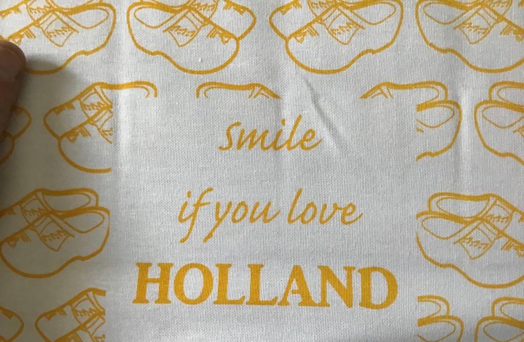 Afdrogen met een Hollands printje