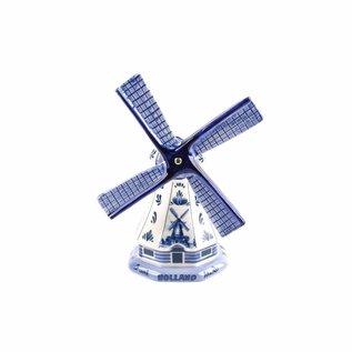Souvenirs Polder mill delfts blue 11 cm