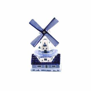 Souvenir Stellingmolen delftsblauw 12 cm