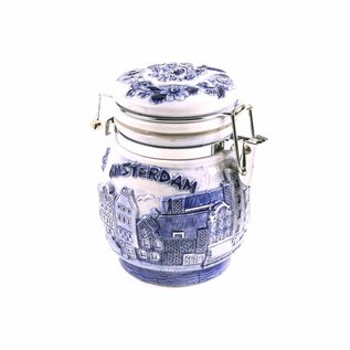 Delftblue preserving jar Amsterdam