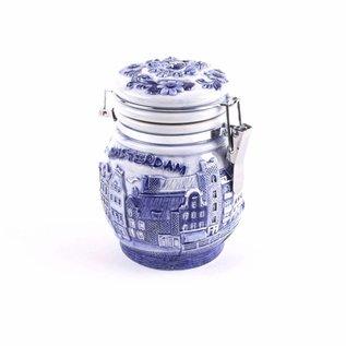 Delft blue preserving pot Amsterdam
