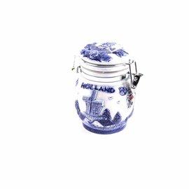 Delfts blauwe voorraadpot Holland