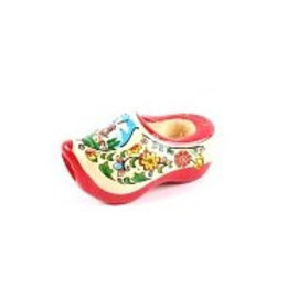 tie clog with red sole