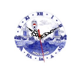 Clock 15 cm delft blue Holland