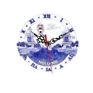 Uhr 15 cm delft blau Holland