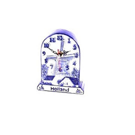 Standing clock Delft blue Holland