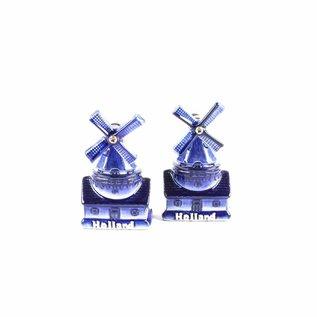 Pepper and salt set windmill delft blue