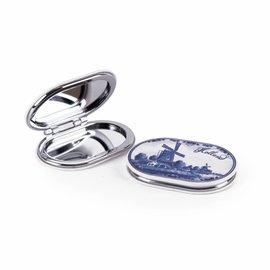 spiegeldoosje molen delfsblauw