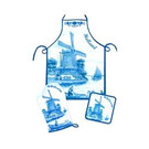 3-piece kitchen set in the color Delft blue