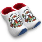 white clog slippers Dutch windmill