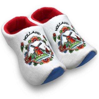 white clog slippers Dutch windmill