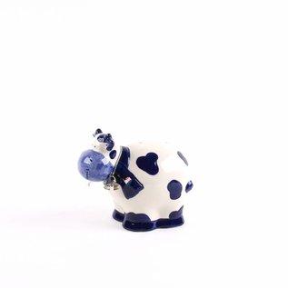 money box delft blue cow