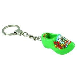 sleutelhanger klompje 4 cm groen