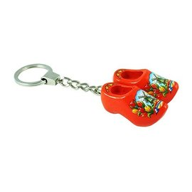 Klompjes sleutelhanger oranje