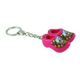 Schlüsselbund mit 2 rosa Clogs