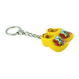 Keychain with 2 clogs in the color yellow