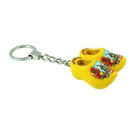 Schlüsselbund mit 2 Clogs in der Farbe Gelb