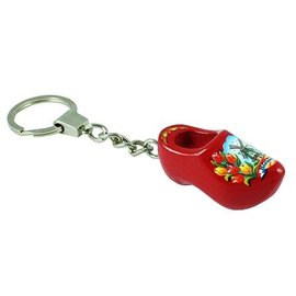 Keychain clog in the color red