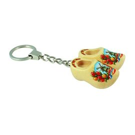 Keychain 2 clogs 4 cm clear lacquered