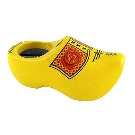 Puntenslijper-klompje geel met bies