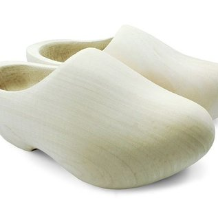 Sanded wooden shoes