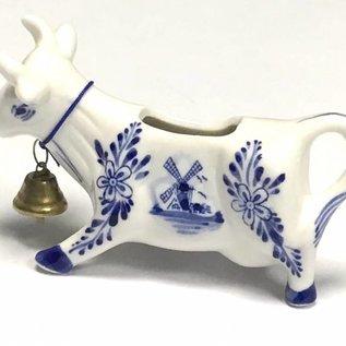 Milch kann Kuh mit glocke delft blau