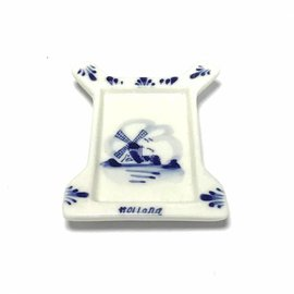 Tea bag holder delft blue mill