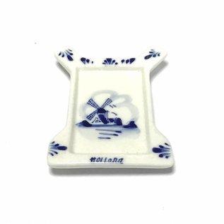 Tea bag holder delft blue mill