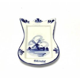 Tea bag holder delft blue tulip