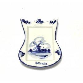 Theezakjeshouder delftsblauw tulp