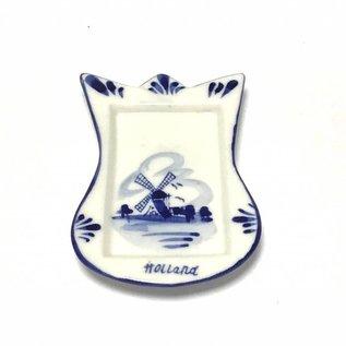 Tea bag holder delft blue tulip