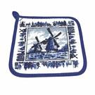 Topflappen Delft Blue Mühle
