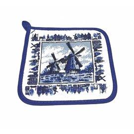 pannenlap delftsblauwe molen