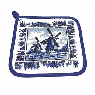 potholder delft blue mill