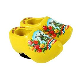 clogs with a magnet yellow