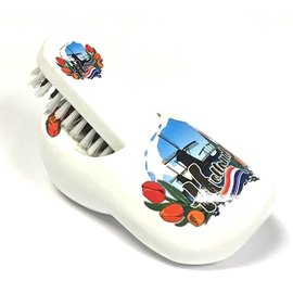 Brush clog white with windmill