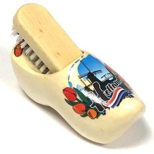 souvenirs klompje met borstel