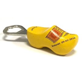 Bottle opener clog with text