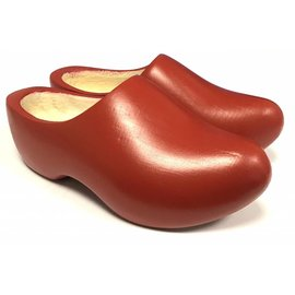 rote Kinder Holzschuhe