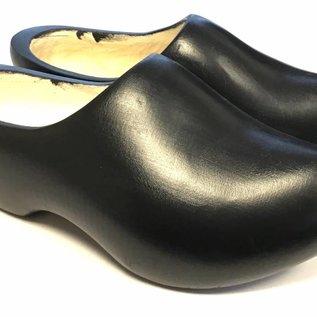 Black children's wooden shoes