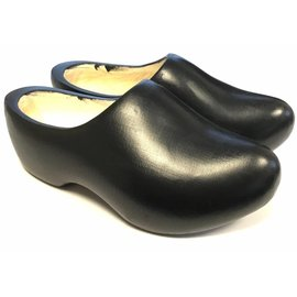 Black wooden shoes