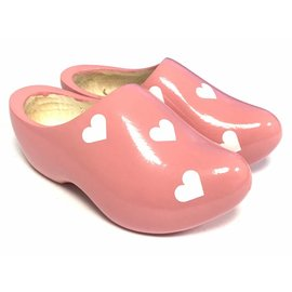 Wooden shoes with hearts