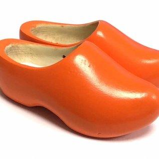 Orange children's wooden shoes